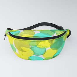 Watercolor Circles - Yellow and Mint Green Fanny Pack