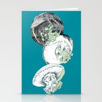 jelly fish Stationery Cards featuring Jelly Fish by Eleanor V R Smith
