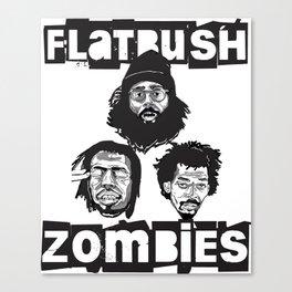 Flatbush Zombies BW Canvas Print