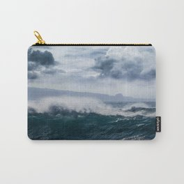 He inoa wehi no Hookipa  Pacific Ocean Stormy Sea Carry-All Pouch