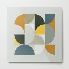 Mid Century Geometric 13 Metal Print