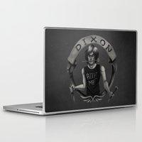 daryl Laptop & iPad Skins featuring Daryl Dixon by Blanca Limón