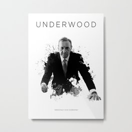 Certified Badass: Frank Underwood Metal Print