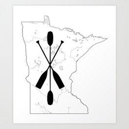 Paddle MN Art Print