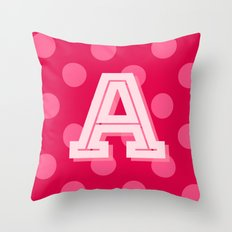 A is for Awesome Throw Pillow