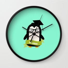 Penguin nerd from St. Louis T-Shirt for all Ages Wall Clock