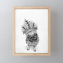 Indian Pug Framed Mini Art Print