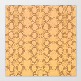 yellow snake skin minimal Canvas Print