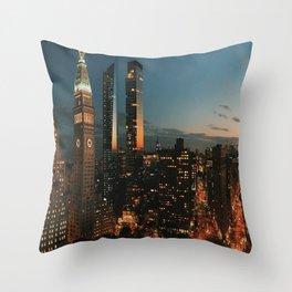 Fifth Avenue New York Views Throw Pillow