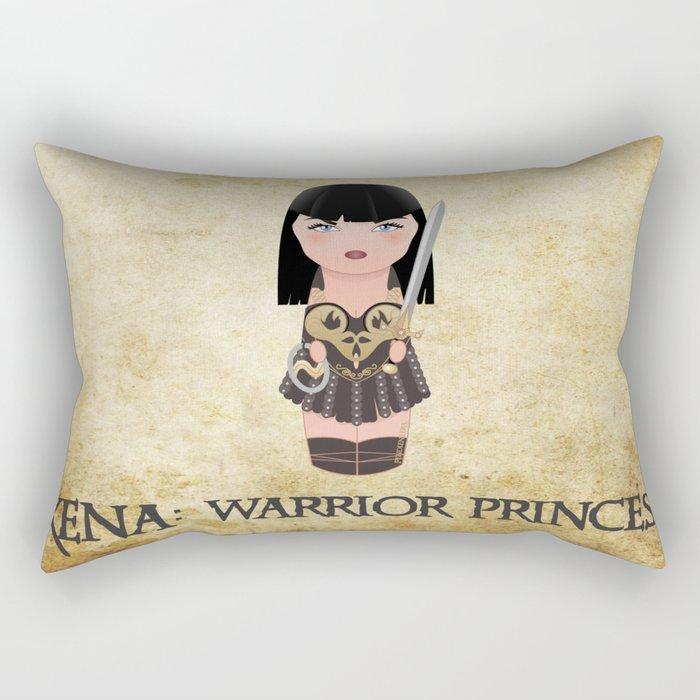 Kokeshi Xena, warrior princess Rectangular Pillow