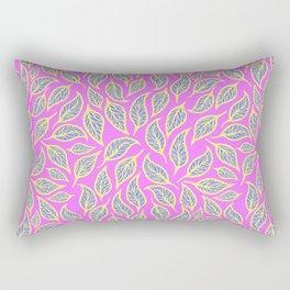 V.14 - Striated Leaves - Cute Pop Colors Rectangular Pillow