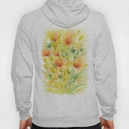 Fiery Flower Field Hoody