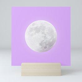 WHITE MOON + LAVENDER SKY Mini Art Print