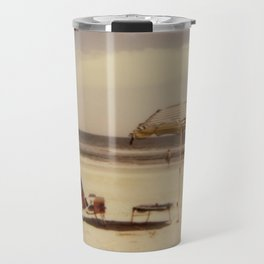 Beach Umbrella - Polaroid Travel Mug