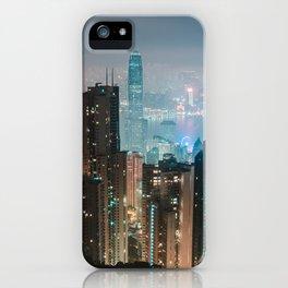 Midnight On Victoria Peak iPhone Case
