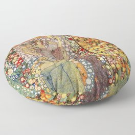 Classical Spring Floral Garden of Galileo Chini by Giorgio Kienerk Floor Pillow