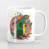 godzilla Mugs featuring GODZILLA by Katboy 7