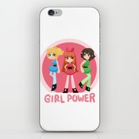 girl power iPhone & iPod Skins featuring Girl Power by honey tiger