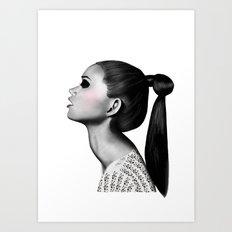 Ponytail Art Print