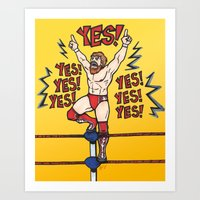wwe Art Prints featuring Daniel Bryan (WWE) by RandallTrang