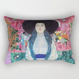 Art Nouveau portrait - Gustav Klimt Rectangular Pillow