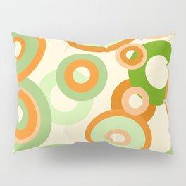 vintage rings orange green Pillow Sham