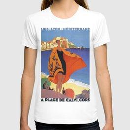 Vintage poster - La Plage de Calvi, La Corse, France T-shirt