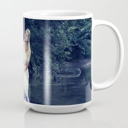 Beautiful girl in the river Coffee Mug