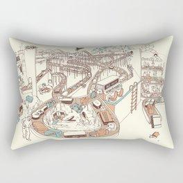 Secret Lives of Luggage Rectangular Pillow