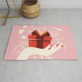 Love gift, Happy Valentine's Day  Rug