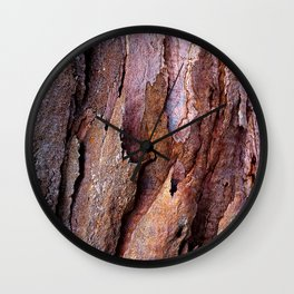 Eucalyptus Tree Bark and Wood Texture 20 Wall Clock