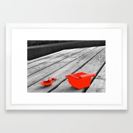 Pail and Shovel Framed Art Print