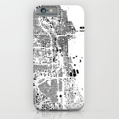 Chicago Map Schwarzplan Only Buildings iPhone 6s Slim Case