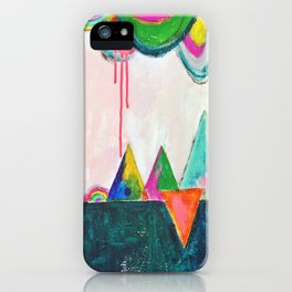 Bliss land abstract candy colored painting iPhone Case