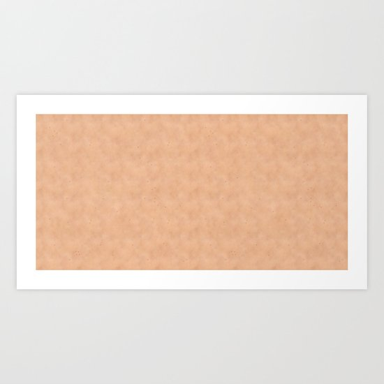 Skin Style Texture With Freckles Art Print