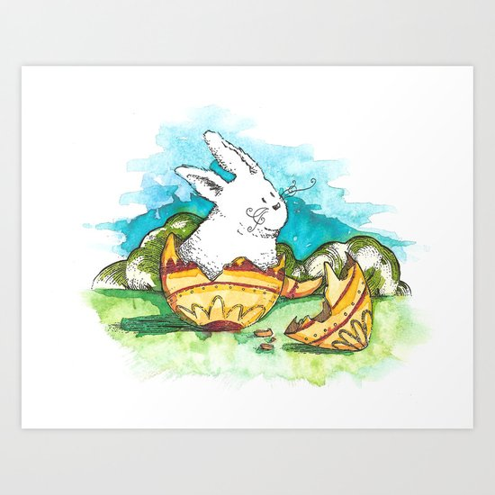 Born at Easter Art Print