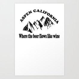 Dumb And Dumber - Where The Beer Flows Like Wine Art Print