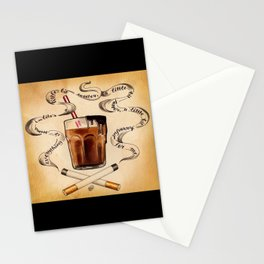 Cigarettes and Chocolate Milk Stationery Cards