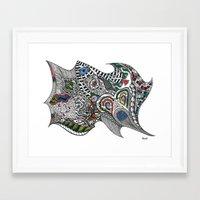jay fleck Framed Art Prints featuring jay by Anouki Art