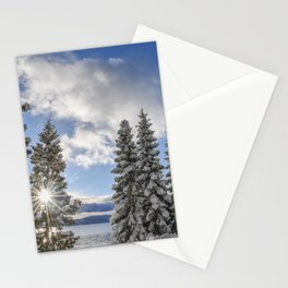 Sunrise in Lake Tahoe with Fresh Snow Stationery Cards