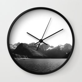 British Columbia Landscape Photography | Vancuver | Mountains and Lake Wall Clock
