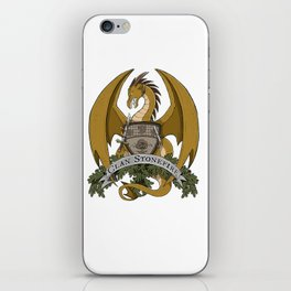 Clan Stonefire Crest - Gold Dragon iPhone Skin