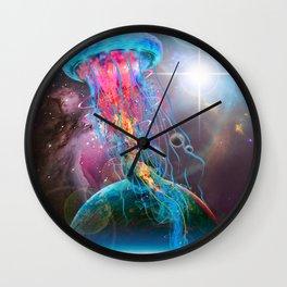 Super Space Jellyfish Wall Clock