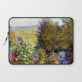 Claude Monet : A Corner of the Garden at Montgeron Laptop Sleeve