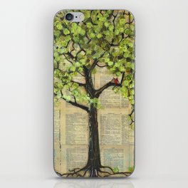 Two Red Cardinal Love Birds in a Tree iPhone Skin