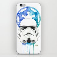 storm trooper iPhone & iPod Skins featuring Storm Trooper by Leigh Roundy