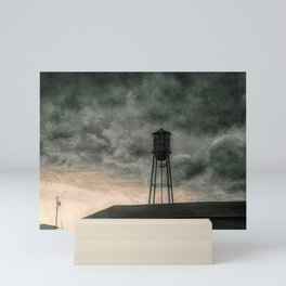 Water Tower #textured Mini Art Print