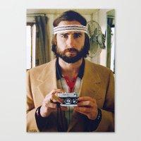 tenenbaum Canvas Prints featuring Richie Tenenbaum by VAGABOND