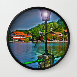 Lantern at the Lake Schliersee Wall Clock