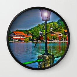 Lantern at the Lake Schliersee Wall Clock